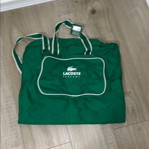 Lacoste foldable carry on bag